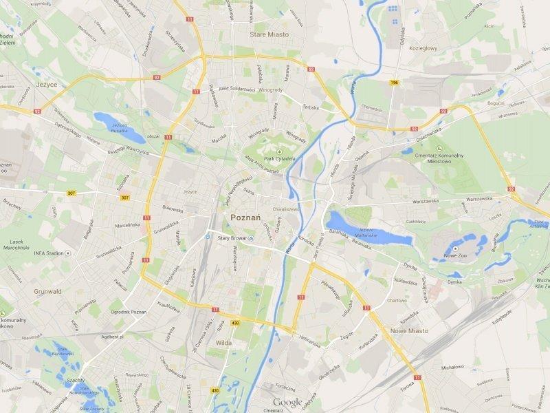 Mapa - Poznań
